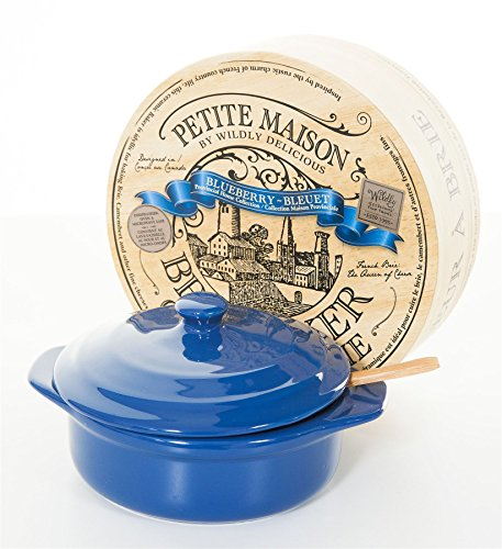 Wildly Delicious Petite Maison Brie Cheese Baker in Blueberry Blue