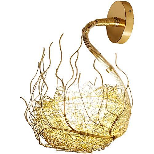 Nouvelle lampe murale LED, applique murale créative pour nid élégant, applique nordique post-moderne, lampe murale en verre, lampe de chevet personnalité en aluminium Art (Design : 1)