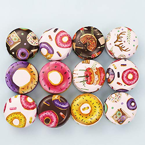 FineInno 12PCS Boite Metal Ronde Candle Can Boite de Rangement Cuisine Tinplate Box Petite Boite Bijoux Candy Box Pot Bougie Vide en Fer