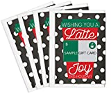 Tiny Expressions – Holiday Coffee Gift Card Holders (4 Pack)   Christmas Set of 4 with Envelopes   Thanks a Latte Themed 5'x7' Appreciation Gifts for Teachers, Staff, Nurses, Customers & Admins