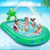 Lenbestかわずプール スプラッシュプール パドリングプール ビニールプール おもちゃプール 夏の日 子供用 水遊び 親子遊び 家庭用 アウトドア 芝生遊び 誕生日プレゼント可愛いかわず形