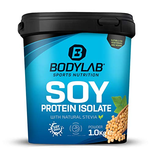 Bodylab24 Soja Protein Isolat 1kg | Pflanzliches Eiweiß-Pulver | Vegan Protein Shake | Schokolade