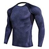 Medias PRO de manga larga transpirable de secado rápido de fitness corriendo fútbol baloncesto entrenamiento ropa deportiva camiseta