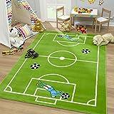 SANAT Teppich Kinderzimmer - Fußball Spielteppich Kinderteppich für Mädchen und Jungen Öko-Tex 100 Zertifiziert, Größe: 160x230cm