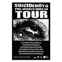 IDOLN1 $ UICIDEBOY $ラップミュージックグループツアーカバー歌手アートポスタープリントキャンバス家の装飾写真ウォールプリント-50x75cmフレームなし1PCS