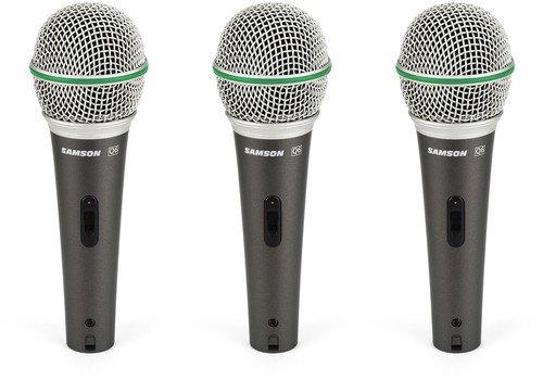 Samson Q6 Dynamic Microphone 3-Pack