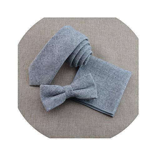Los hombres de corbatas y pañuelos conjuntos de lana delgada cuello delgado cuello cuello cravats señoras Hanky accesorios