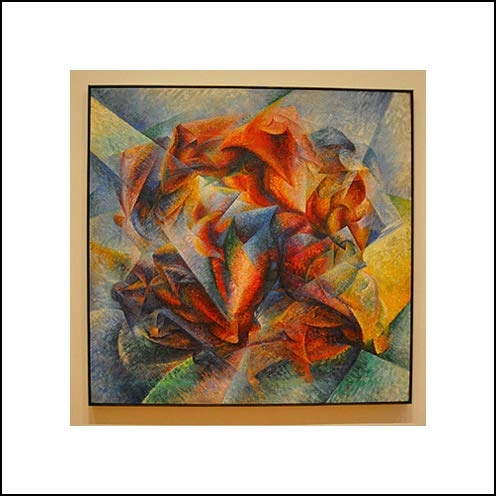 Umberto Boccioni 16x16 Art Print - Dynamism of A Soccer Player