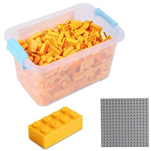 Katara Juego De 520 Ladrillos Creativos En Caja Con Placa De Construcción 100% Compatibles Con Lego Classic, Sluban, Papimax, Q-bricks, Color Amarillo (1827) , color/modelo surtido