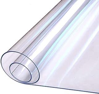 キッチンマット(55CM*180CM)クリア透明無色 床、フロア保護シート 大判 滑り止め ソフト台所マット 床暖房対応 撥水 凹み・汚れ防止 掃除簡単 多用途