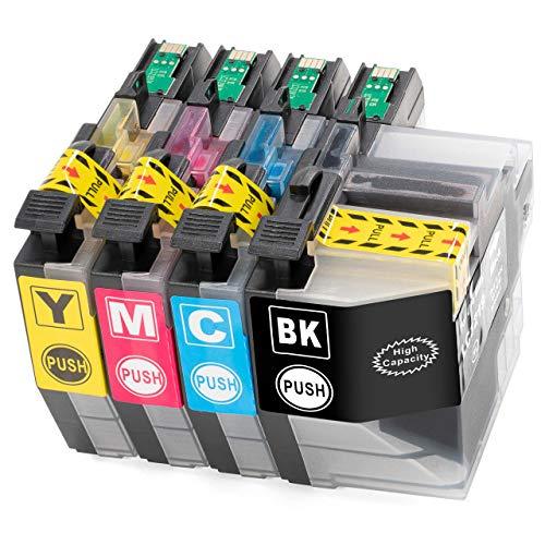 ESMOnline 4 cartuchos de impresora XL (4 colores) como repuesto para LC-3219/LC-3217 a Brother MFC J5330DW J5335DW J5730DW J5930DW J6530DW J6930DW J6935DW