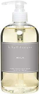 k hall designs Milk Liquid Soap 12 oz.
