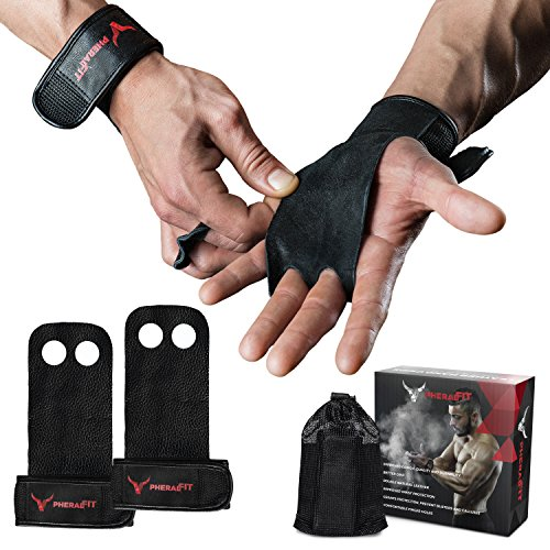 PHERAL FIT Natural Leather Hand Grips