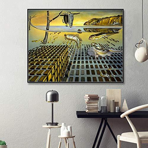 YHSM Imprimir póster La desintegración de la persistencia de la Memoria de Salvador Dali Wall Pictures Home Decor 60x80cm