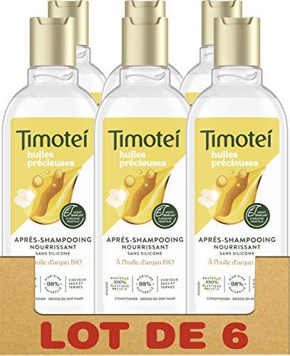 Timotei Après-Shampooing Femme Nourissant Huiles Précieuses d'Argan bio et fleur de...