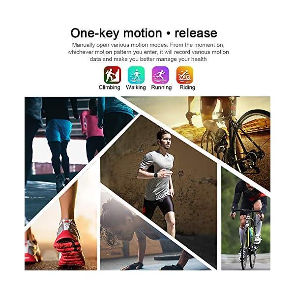 Smart Pulsera Fitness Tracker- Reloj Inteligente para Hombres Mujeres Bluetooth Rastreador de Actividad con Monitor de… 7