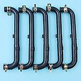 5 x Manguera de tubo de aceite con kit de abrazaderas compatible con Honda GX35 GX35NT HHT35S UMC435A Desbrozadora de motor Desbrozadora 15422-Z0Z-000