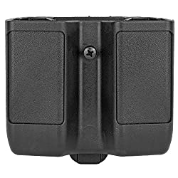 commercial BLACKHAWK Double Stack Double Mug Case (9 mm, 10 mm, 0.40 Cal, 0.45 Cal), Matte Finish glock mag pouches