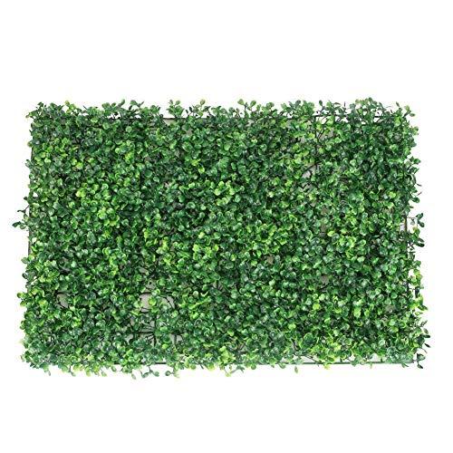 XCSM 3 Piezas 40 x 60 cm Paneles de boj Artificial Faux Topiario Planta de Cobertura Hiedra Verde Valla de privacidad Pared Exterior Interior Jardín Balcón Decoración del Patio Trasero