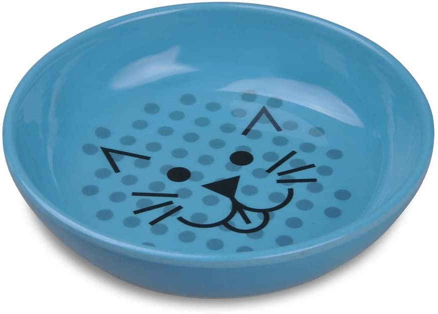 ECOWARE Cat Dish 8 Ounce Assorted Pacific Special Campaign Colors Blue Rare Single