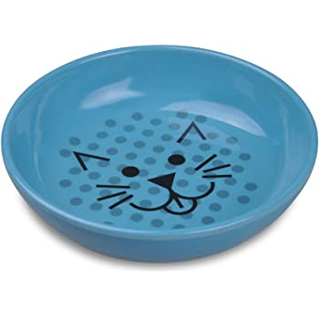 Van Ness ECOWARE Cat Dish, 8 Ounce, Assorted Colors, Pacific Blue, Single Dish (ECW20)