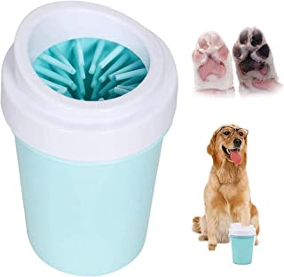 2 PCS Portable Pet Dog Paw Cleaner Cup for Cat and Dog Sludge Paw Cleaning Combing, Comfortable Silicone Brush, Quick Scru...