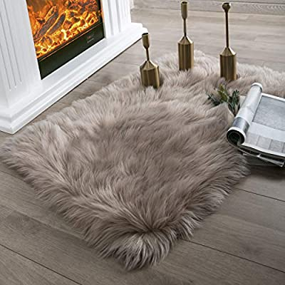 Ashler Soft Faux Sheepskin Fur Chair Couch Cover Area Rug Bedroom Floor Sofa Living Room