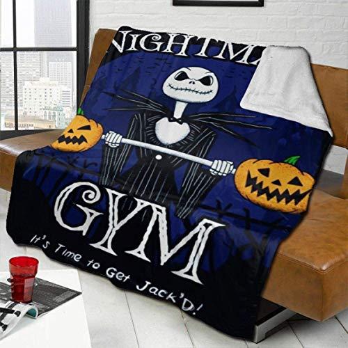Halloween Town Gymair - Manta acondicionadora súper Suave de Lana de Cordero, Manta cálida, usada para sofá, Silla de Viaje, Manta, Manta Ligera 60 'x 50'