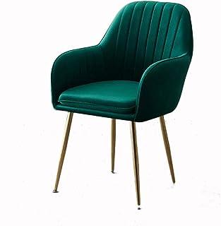 Sillas Comedor ZZRS Salón Cafe Modern Asiento Silla de Oficina for el hogar, Cocina, Conferencia 47 × 44 × 85cm (Color : Green)