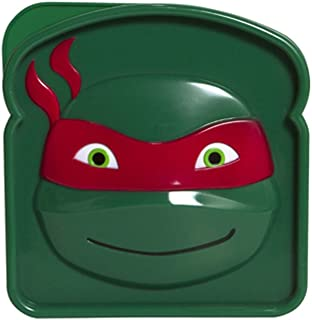 Evriholder Nickelodeon TMNT Sandwich Container, Red/Green, Purple/Green, Orange/Green and Blue/Green by Evriholder