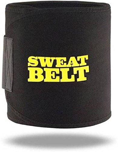 GJSHOP Slimming Waist Trimmer Burn Fat Sweat Belt for Men and Women (Color-Black).
