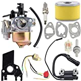 Kuupo 212CC Carburetor Air Filter Ignition Coil Spark Plug Kit for Harbor Freight Predator 212CC 69730 69727 60363 68121 68120 R210 Gas Engine Honda GX140 GX160 GX168 GX200 5HP 5.5HP 6.5HP