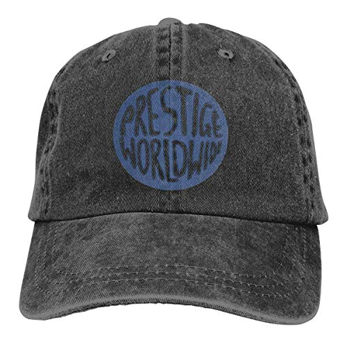 XCNGG Prestige Worldwide Sombreros de Vaquero Unisex Sombrero de Mezclilla Deportivo Gorra de béisbol de Moda Negro