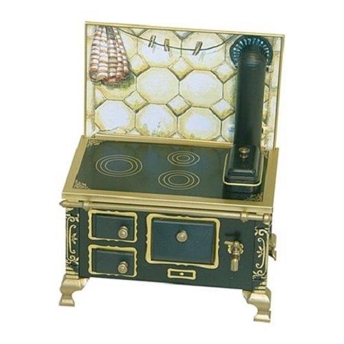 Rülke Holzspielzeug 22115 Puppenhauszubehör, schwarz, beige