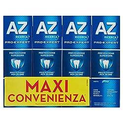 La tecnologia per dentifricio di AZ Protezione per 24 ore contro la placca spazzolando due volte al giorno Contiene una combinazione di fluoro stannoso e altri principi attivi Sapore di menta per un alito fresco Sapore di menta fresca