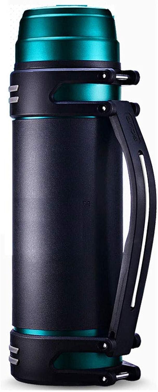Mugs isotherme Bouteille de pot de bouilloire d'isolation, tasse de voyage extérieure 2000L d'acier inoxydable de l'eau chaude de la grande capacité 304 de ménage (Couleur   Lake bleu)