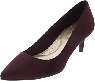 9acd84f70a4 Dexflex Women s Jeanne Pointed Toe Pumps - Comfy   Trendy 2 1 4 Inch Pumps