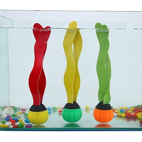 Alomejor Meeresalgen-Spielzeug, Unterwasser-Schwimmbad-Spielzeug, Greifen, Seetang, für Kinder, Schwimmen lernen, 3 Stück