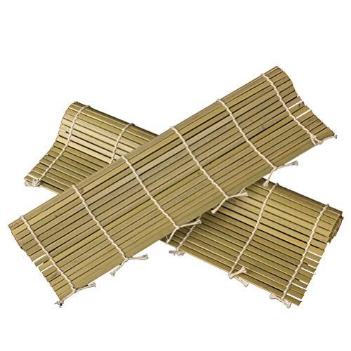 BESTonZON Stuoia di Sushi di bambù Sushi Rolling Mats Sushi Rolling Bamboo Pad Cucina Sushi Che Fa Strumento (1pcs / 24x24cm)