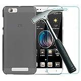Todobarato24h Funda TPU Lisa Compatible con Zte Blade A610 Negra + Protector DE Cristal Templado