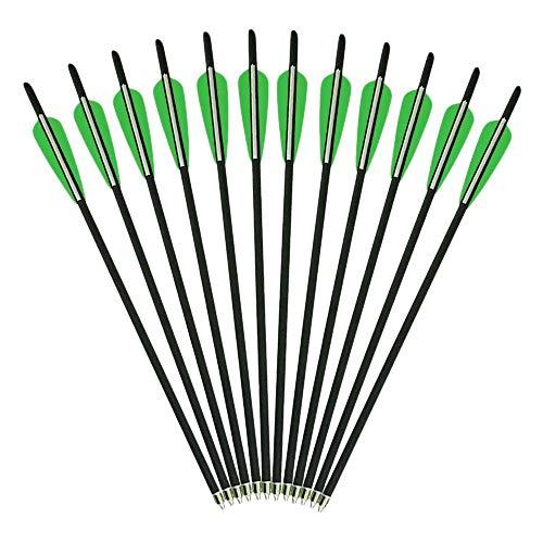AMEYXGS 6pcs Armbrustbolzen Mixed Carbon Armbrust Pfeile 16