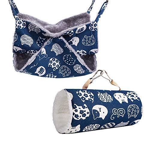 Túnel colgante para animales pequeños de hámster, accesorios de jaula de azucarero, hamaca ropa de cama, juguetes de cama para erizo..