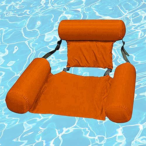 kunst für alle Aufblasbare Hängematte Pool Float Lounge Wasserstuhl Wasser Hängematte Ultrabequeme Luftmatratze Schwimmende Wasser Bett Matte Schwimmstuhl Poolsitze Liege Tragbare Lounge Stühle