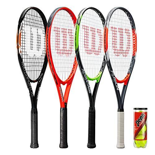 Wilson Raqueta de tenis XL Series incluye 3 pelotas de tenis (varios modelos disponibles) (Fusion XL)