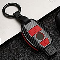 AMLaost カースタイリングアクセサリーカーキーカバー保護ケースフルカバー、メルセデスベンツECクラスW204 W212 W176 GLC CLAGLA用