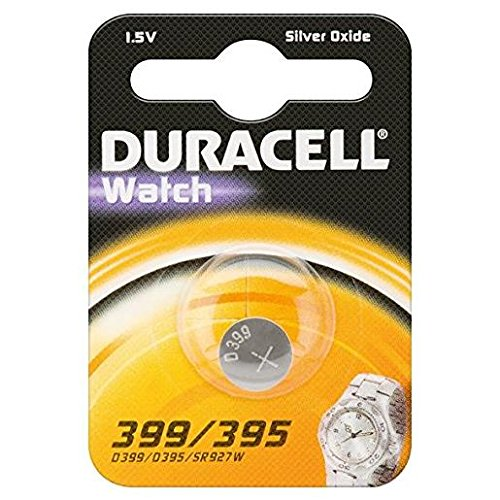 Duracell 399/395Silver-Oxide 1.5V Non-Rechargeable Battery–Non-Rechargeable Batteries (Silver-Oxide, Button/Coin, 1.5V, 1PC (S), SR57, 84mAh)