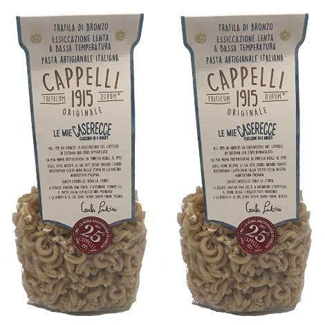 Caserecce Cappelli Originale 1915 - trafilate in bronzo, essiccazione lenta - pasta storica artigianale Italiana - 2x500 gr Carla Latini