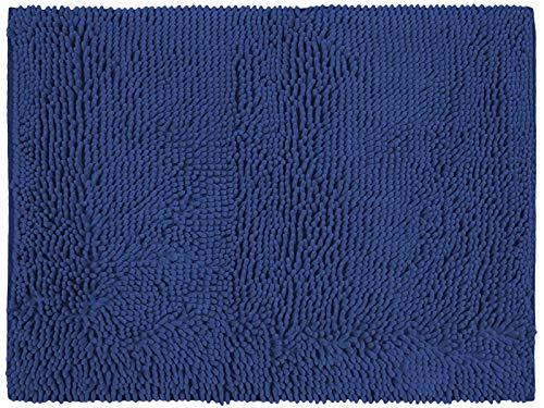 REVITEX - Alfombrilla de baño Antideslizante Microfibra Azul 50x70 cm