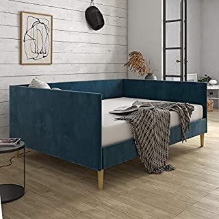 DHP Franklin Mid Century Upholstered, Full Size, Blue Velvet Daybed, (B07WW2HWZ4) | Amazon price tracker / tracking, Amazon price history charts, Amazon price watches, Amazon price drop alerts