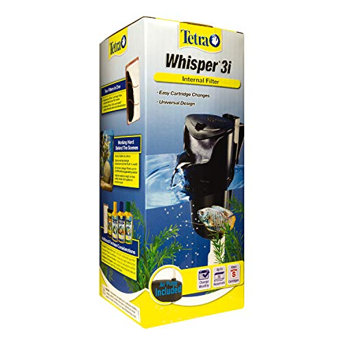 Tetra Whisper 3i Internal Filter, In-Tank Filtration With Air Pump, for 1-3 Gallon Aquariums